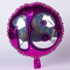 balloons for 18th birthday holographic pink age 18 foil helium balloon card factory