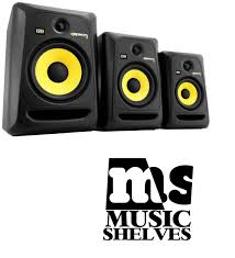 krk home theater krk studio monitors selling at a very cool price music shelves