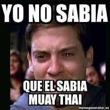Muay Thai Memes - meme crying peter parker yo no sabia que el sabia muay thai
