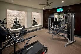 gym decor ideas home gym contemporary with light well limestone