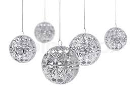 shiny silver hanging isolated on white background