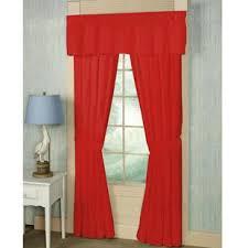 bright red curtains wayfair