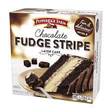 chocolate fudge stripe layer cake pepperidge farm