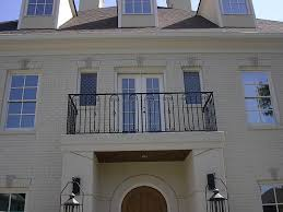 awesome home design come with black wrought iron balcony come with