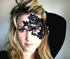 black lace masquerade masks reusable adhesive black lace masquerade mask by