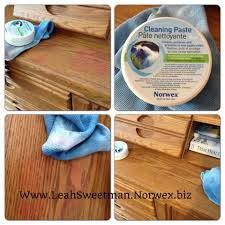 norwex cleaning paste is amazing and cleaning up your wood i got