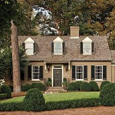 welcoming exterior paint dormer windows black shutters and lush