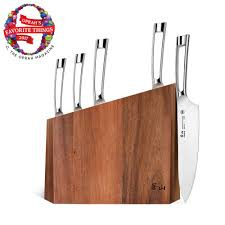 kitchen knives block set cangshan n1 series 6 piece german steel forged knife block set