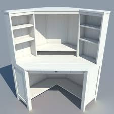 low poly corner computer desk 3d model cgtrader