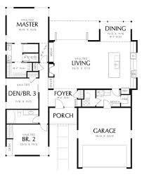 1 Floor Home Plans 1719 Sq Ft 3 Beds 2 00 Baths 1 Floor Modern Style Home Floor
