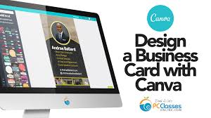 design a business card using canva youtube