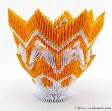 Origami 3d Flower Vase Origami Modular Origami Vase By Origamimodulowe On Deviantart