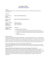 Sample Public Health Resume by Masters In Public Health Resume Sample