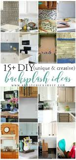 Unique  Creative DIY Backsplash Ideas Artsy Chicks Rule - Creative backsplash