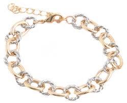 link bracelet silver images Silver and gold link bracelet purple peridot jpg