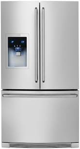 counter depth french door refrigerator with wave touch controls