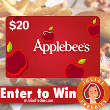 applebee s gift cards win a 20 00 applebee s gift card today only julie s freebies