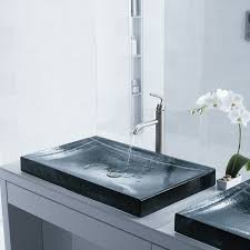 glass act fine art glass sinks for the bathroom