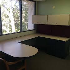 T Shape Desk Decommissioned Generic Desks Orlando Used Grey Beige U Shape