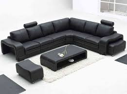 Sectional Sofas With Recliners by Furniture Classical Black Oversized Leather Sectional Sofa With