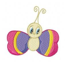 butterfly and bugs machine embroidery designs set of 10