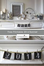 Diy New Years Eve Decorations Printables new years decor ideas and a free printable banner mantels free