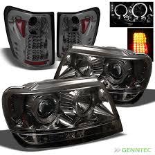 2002 jeep grand cherokee tail light for smoked 99 04 jeep grand cherokee halo led pro headlights led