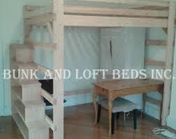 queen size loft bed etsy