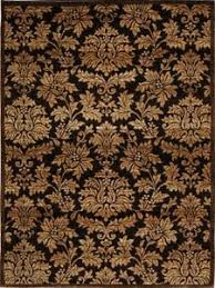 Area Rugs 8 X 10 Damask Brown Gold Area Rug 8x10 Carpet 1000 Actual 7 8