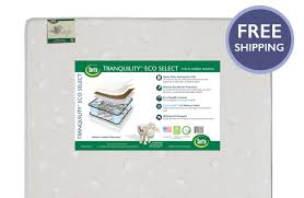 Crib And Toddler Mattress Serta Tranquility Eco Select Crib And Toddler Mattress
