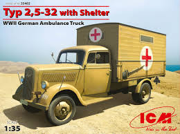 german opel blitz truck typ 2 5 32 with shelter wwii german ambulance truck icm holding