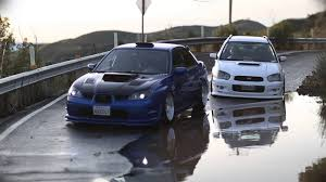 stanced subaru hd hellaflush subarus wrxs hawkeye sedan and peanuteye wagon youtube