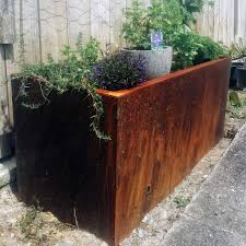 rustic bray steel planter bray design