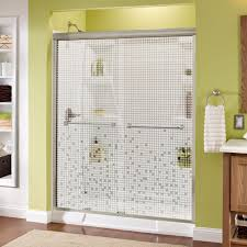 delta crestfield 60 in x 70 in semi frameless sliding shower