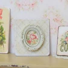 Shabby Chic Dollhouse by Dollhouse Miniature Framed Lady Picture White Ornate Frame