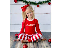sale family pajamas embroidered name
