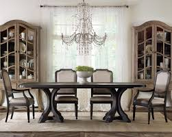 pedestal kitchen table and chairs hooker furniture corsica rectangle pedestal dining table set with