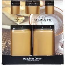 mainstays candle jar set hazelnut cream 5 pieces walmart com