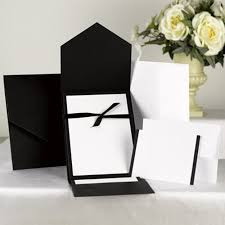 pocket invitations classic black white pocket invitation kit wedding invitations