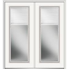 mmi door 72 in x 80 in low e glass internal blinds full lite