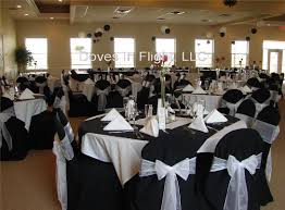 black and white chair covers chair covers of lansing doves in flight decorating