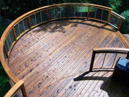 western red cedar as a deck material