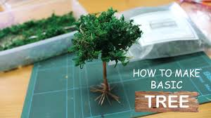 diorama tutorial how to make basic tree