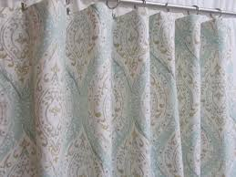 aqua teal ogee window curtains ikat medallion curtains light