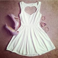 dress white dress white heart heart cut out heart on the back
