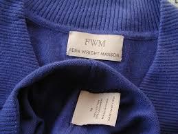 new fenn wright manson blue cotton cashmere summer jumper buttons