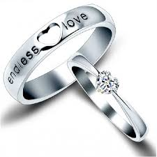 love rings silver images 925 sterling silver quot endless love quot heart zircon diamond couple jpeg