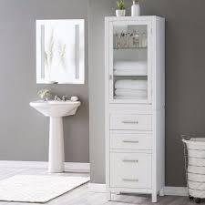 Bathroom Linen Shelves Design Towel Storage Cabinet Antique Linen Cabinet Within