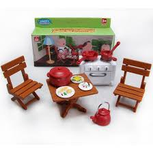 Sylvanian Families Garden Set Table Chair Stove Dishes For Sylvanian Families Furryville Calico