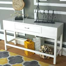 white console table with drawers modern console table with drawers small modern entryway console with